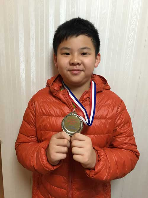 Justin Lam won prize in Inter School Tournament in Hong Kong