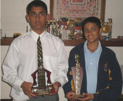 Nikhil and Ashwin Ramanathan won prizes in various tournaments held at Perth, Australia.