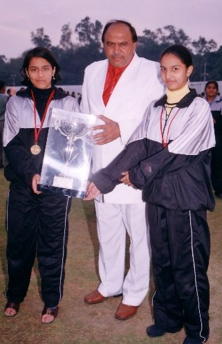 Prachi Thite & Nishita Balgi won Gold Medals in National School Games 2004, Delhi