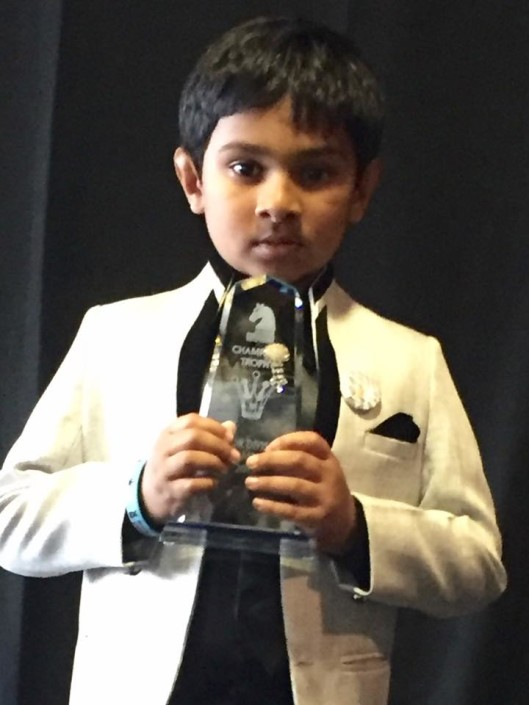 Sravan Renjith of Auckland won New Zealand Chess Congress - Under 10 and also won Trophy in New Zealand Junior Championship 2015