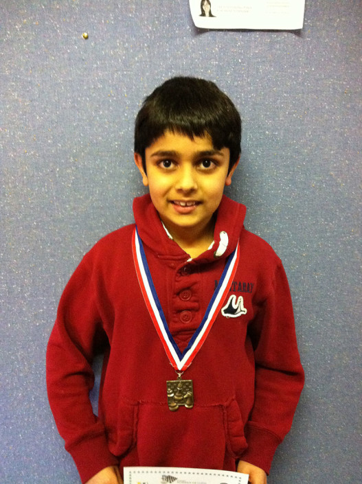Vansh Sharma won a trophy in Inter School Tournament in Sydney