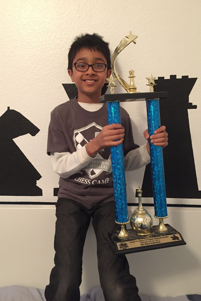 Krish Shah won prize in Texas state Championship