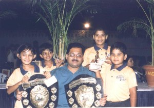 4 Champions in Bournvita 2002 with coach Dhanesh