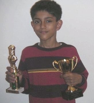 Ameya Shiva won prizes in New York City Championship and New York State Championship at New Rochelle