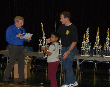 Aniruddha Suresh won the Texas Schools Tournament for Grade 3