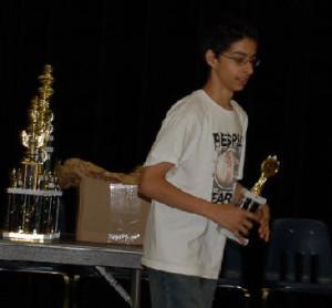 Judge Jones received 3rd Prize in Texas Schools Tournament