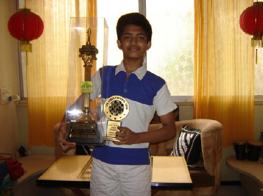 Karan Ajinkya won the Open Section & final play of Session of Young Challenger Chess Tournament held at Mumbai.