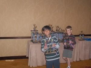 Nathan D'souza wins a prize in Texas Schools Tournament.
