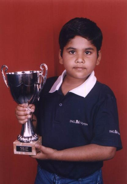 Prasanna Rao - Smith & Williamson British Under 9 Champion