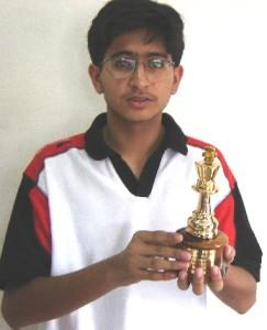 Rishabh Shah - Winner of the Inter School Tournament for ICSE Schools