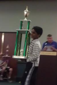 Sabareesh won prizes in Virginia state Championship and Atlantic Open