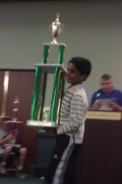 Sabareesh won prizes in Virginia state Championship and Atlantic Open