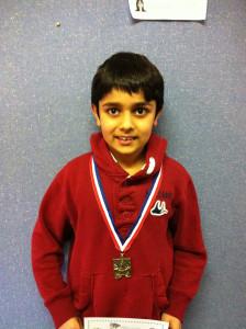 Vansh Sharma won a trophy in Inter School Tournament in Sydney