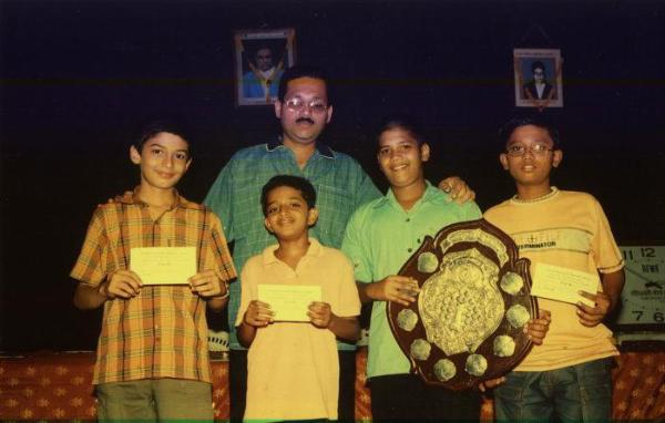 Winners with coach Dhanesh